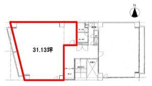 江坂淀ビル1号室間取り図