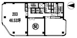 第一住建東心斎橋ビル2階間取り図