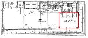 本町西井ビル8階間取り図