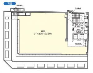 京阪神安土町ビル7階間取り図