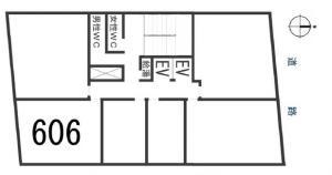 清友ビル606号室間取り図