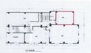 NAGASAKI VILL.(長崎ビル)3階間取り図
