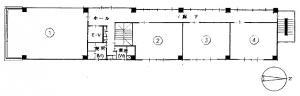 日宝船場中央ビル基準階間取り図