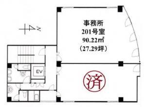 東天満ビル201号室間取り図