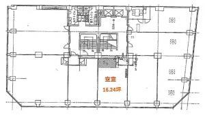 大阪弁護士ビル基準階間取り図