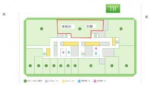 大阪駅前第1ビル11階間取り図