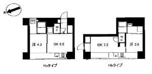北浜コンソール基準階間取り図