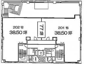 伸栄第1ビル2階間取り図