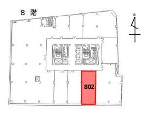 三共梅田ビル8階間取り図