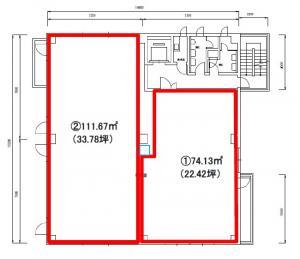 中央ビル4階間取り図