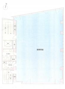 桜橋西ビル基準階間取り図