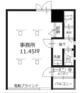 インテリンクス南新町ビル3号室間取り図